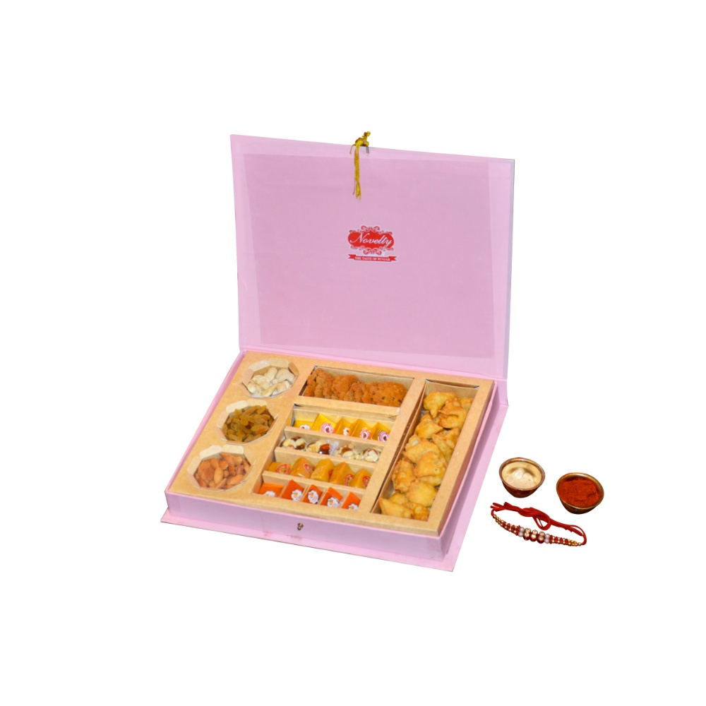 Pink Beauty sweets and dry fruit hamper