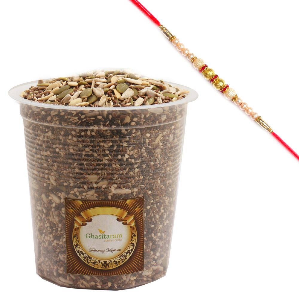 Special 7 in One Healthy Seeds Mixture with Pearl Rakhi