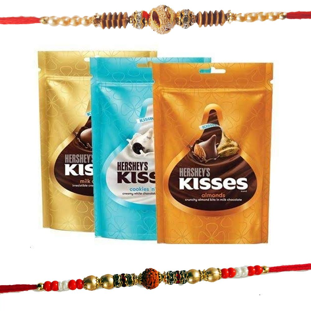 Rakhi With Hershey's Kisses Assorted Value Pack 3