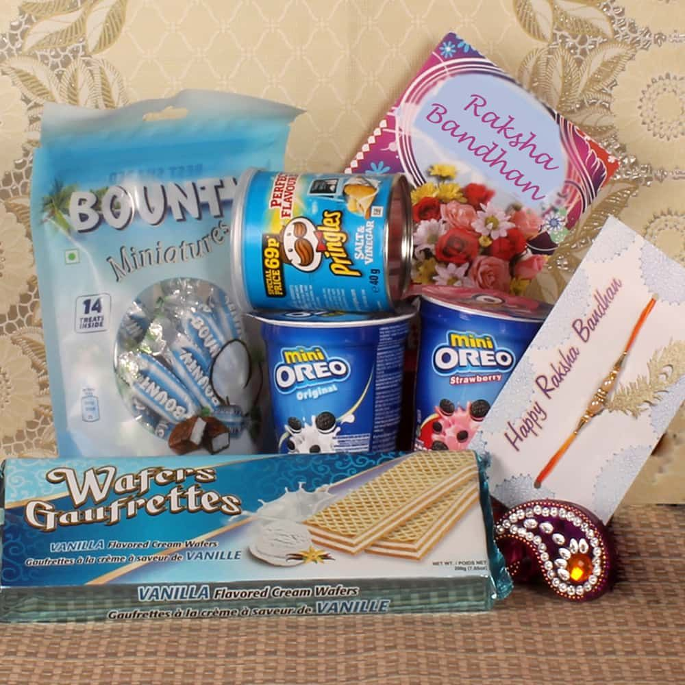 Rakhi Gift of Chocolate Wafers Biscuits