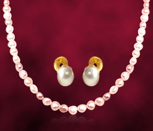 Single Line Real Freshwater Pearl Set