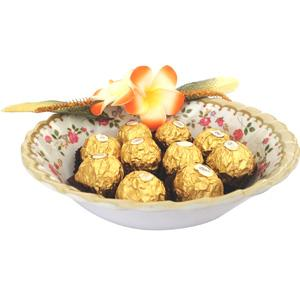 Imported Brands-Ferrero in Floral Bowl