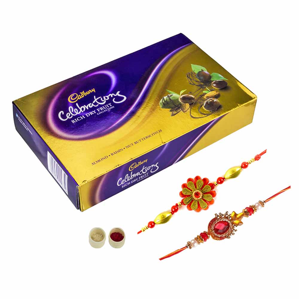 Rakhi Hampers-Celebrations n set of 2 Rakhi