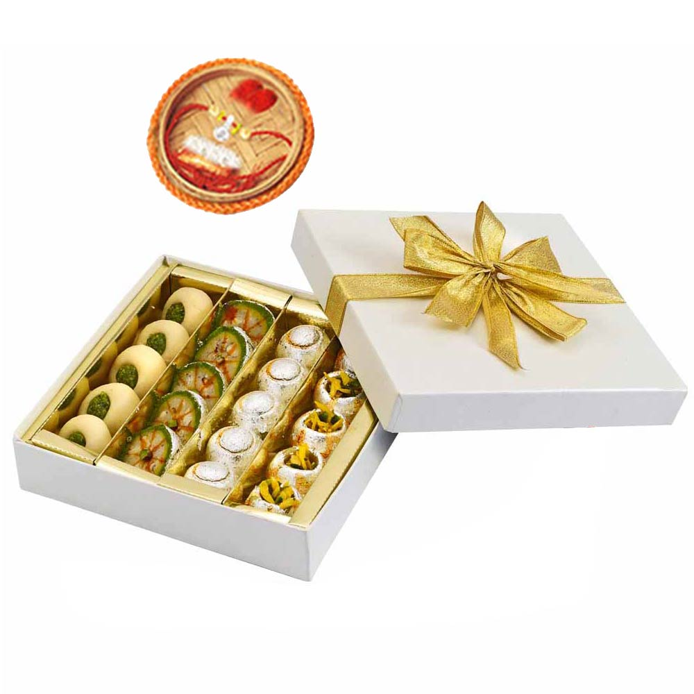 Assorted Mithai Boxes-Badam Pista Mix & Rakhi