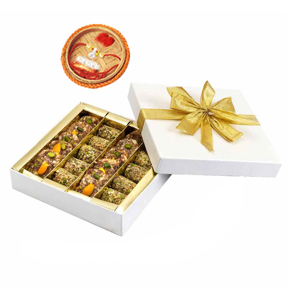 Sugarfree Khajur Walnut Mithai & Rakhi