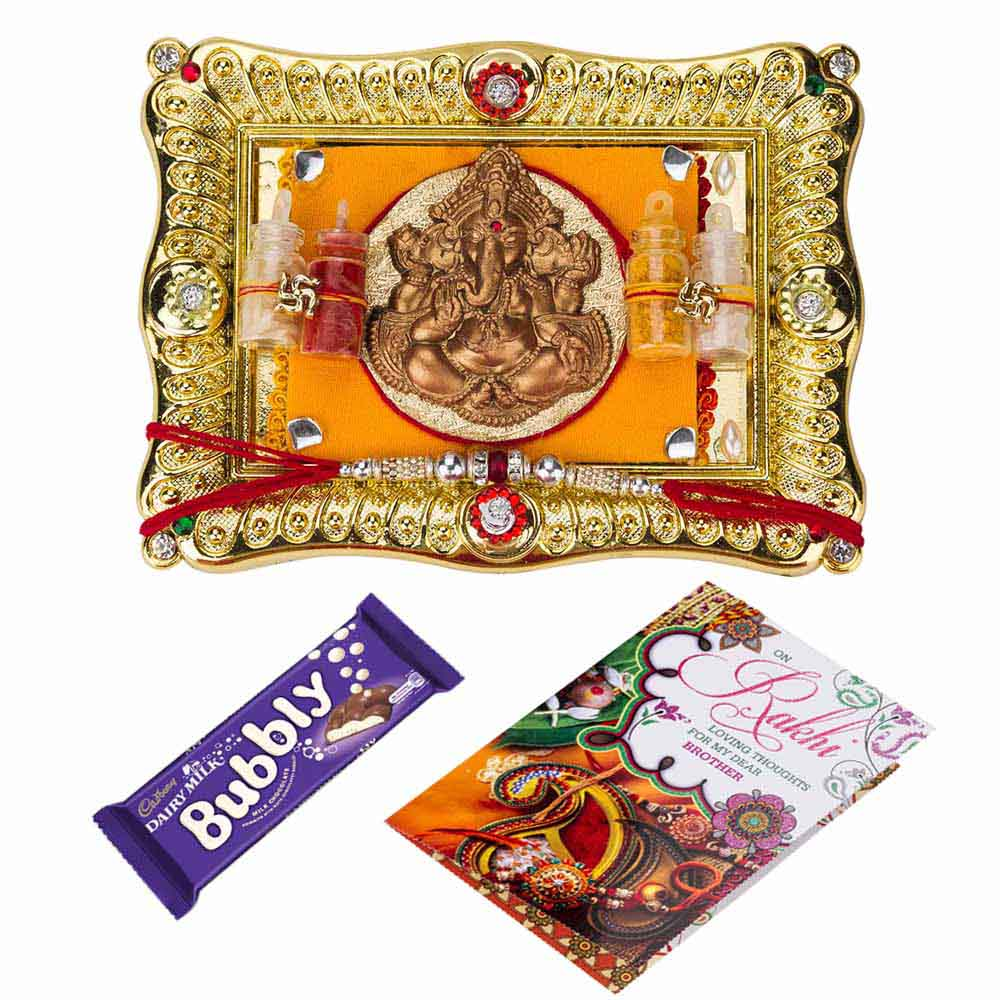 Gift Chocolaty Rakhi wishes on Rakhi