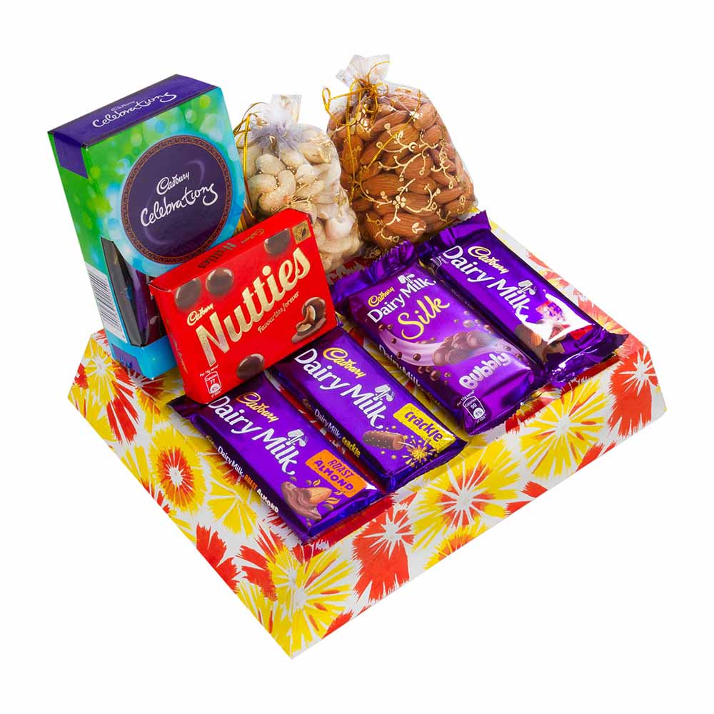 Rakhi Hampers-Choco Nutty Hamper