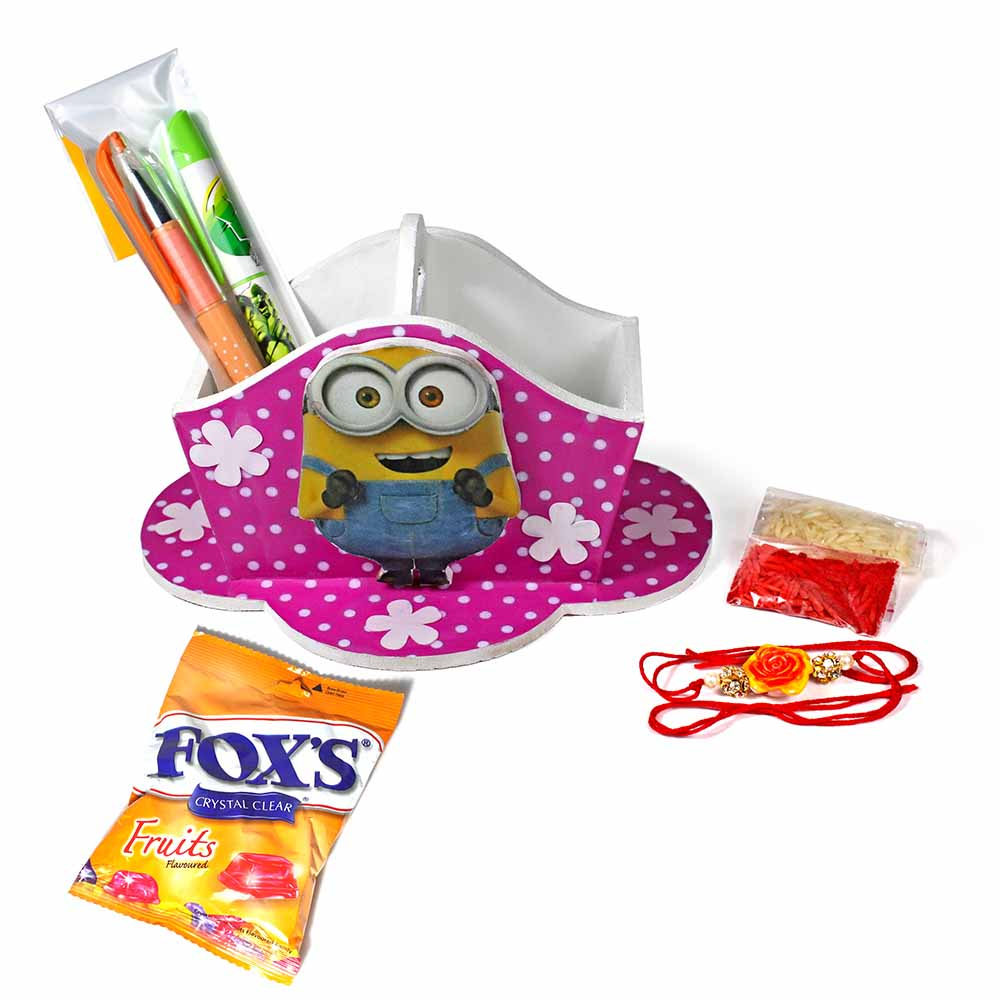 Bob The Minion Stationary Organiser Medium Best Rakhi Gift For Brother And Sister