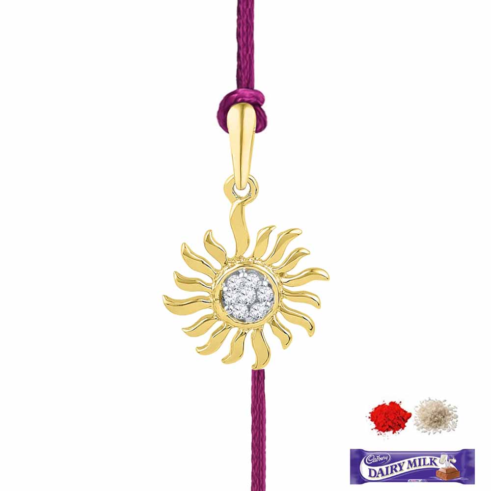 Royal Rakhi Collection-CYRA DIAMOND RAKHI CUM PENDANT