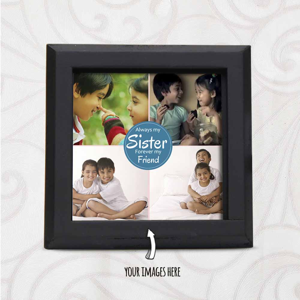 Rakhi Hampers-Multiple Images Printed Personalized Table Top for Sister