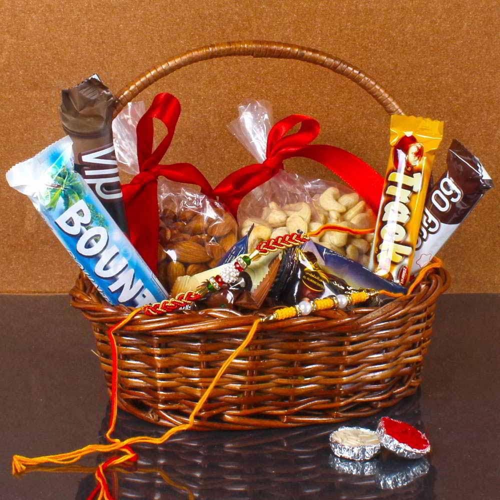 Rakhi Hampers-Raksha Bandhan Healthy Basket for Bhai