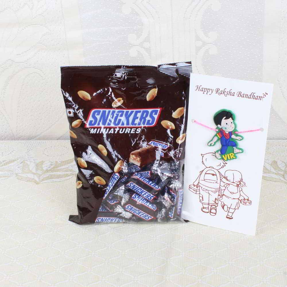 Snickers Miniatures Chocolate Pack with Vir Rakhis
