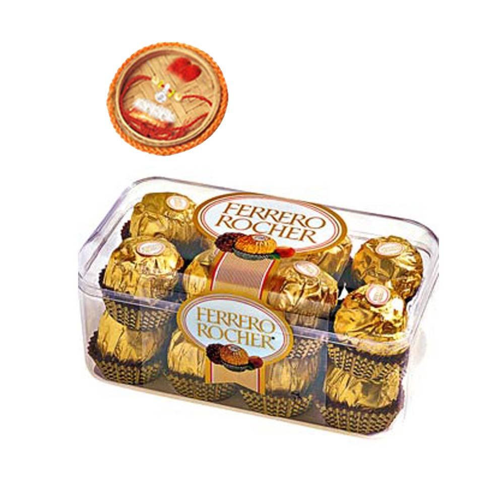 Gift 16pcs Ferrero Rocher +Rakhi Kit on Rakhi