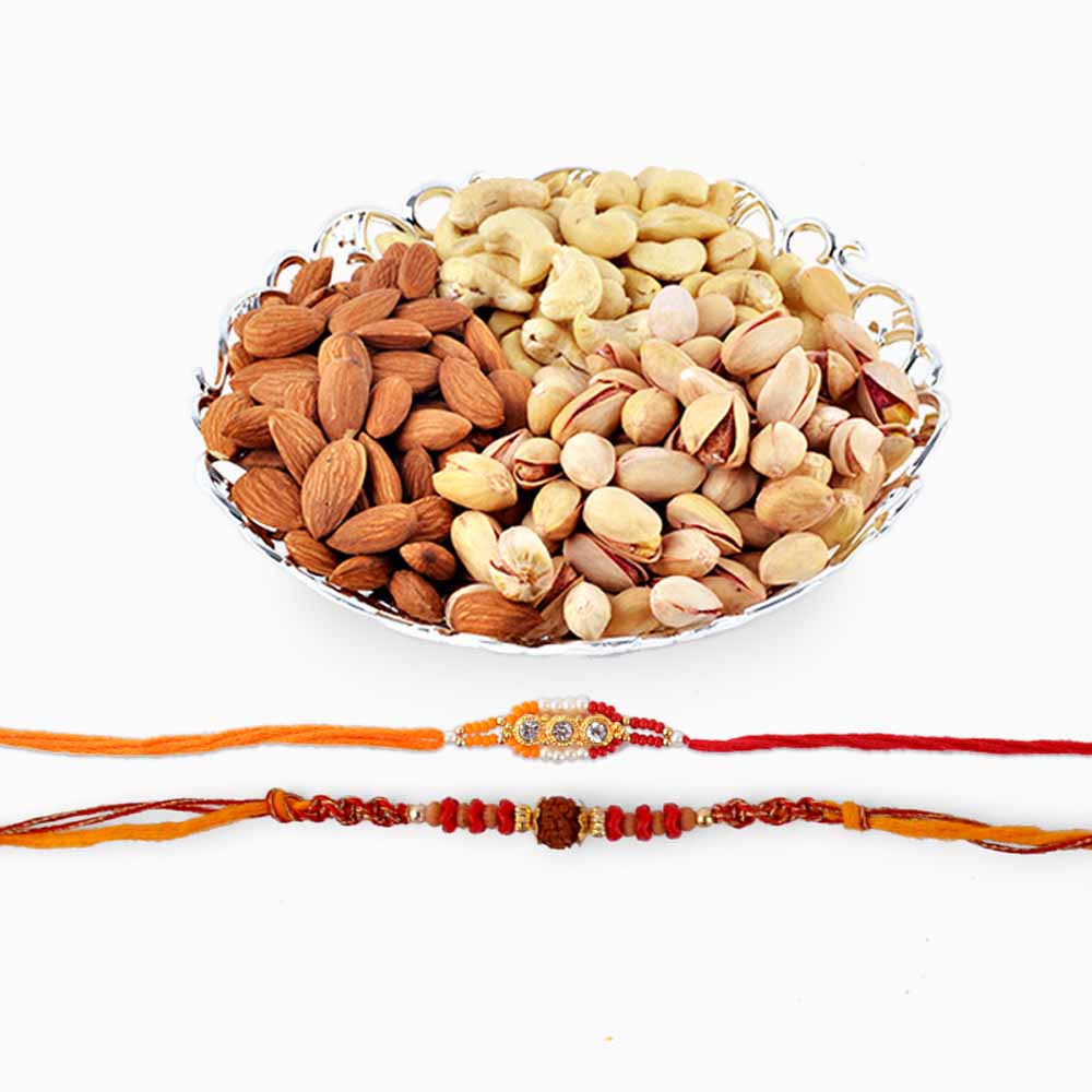 Assorted Dryfruits with Beautiful Rakhi