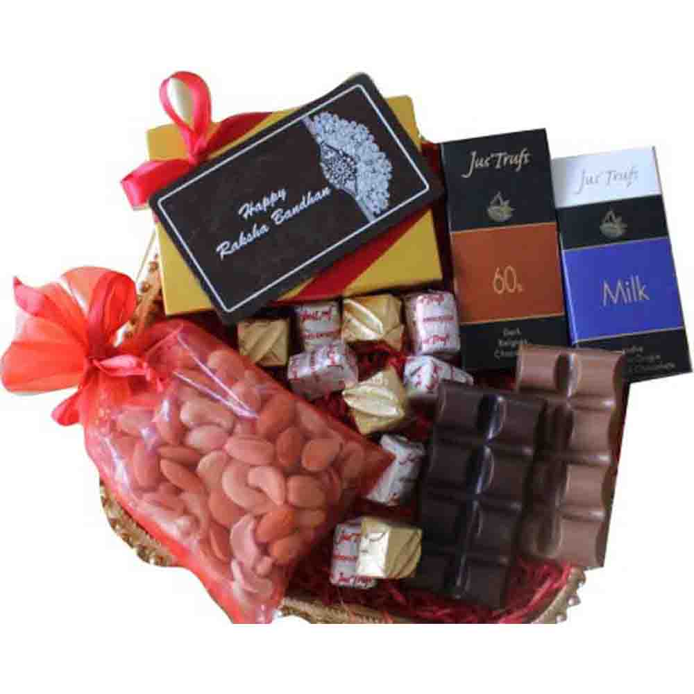 Mini Chocolate Gift Hamper with Rakhi