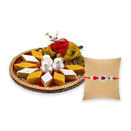 Tajonline Special Hamper-Pyaraa Bandhan with Diamond Rakhi