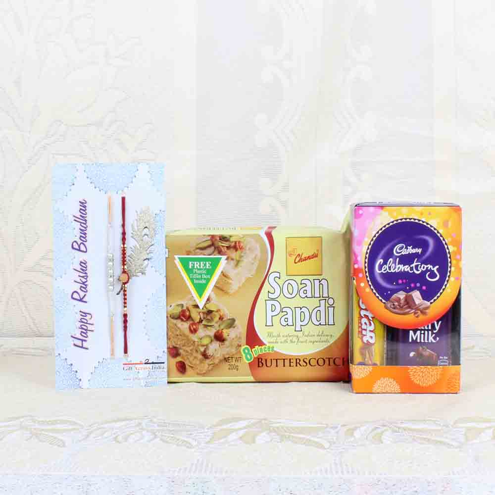 Rakhi Hampers-Perfect Rakhi Goodies Box