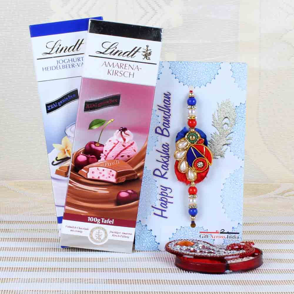 Lindt Chocolates with Traditional Rakhi