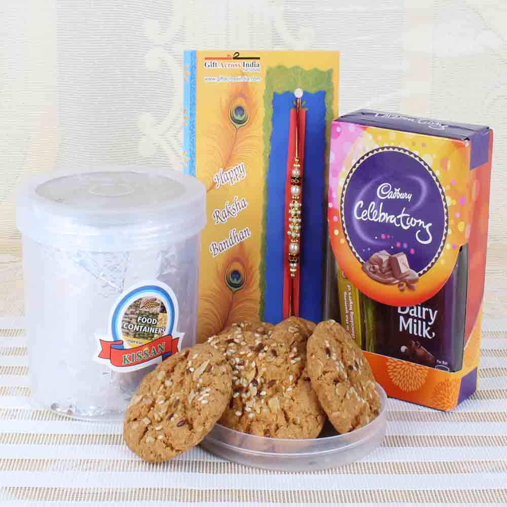 Cookies and Chocolate with Rakhi Hamper
