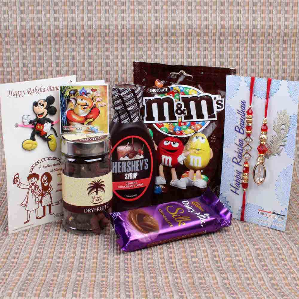 Rakhi Hampers-Family Rakhi with Chocolate Hamper Gift