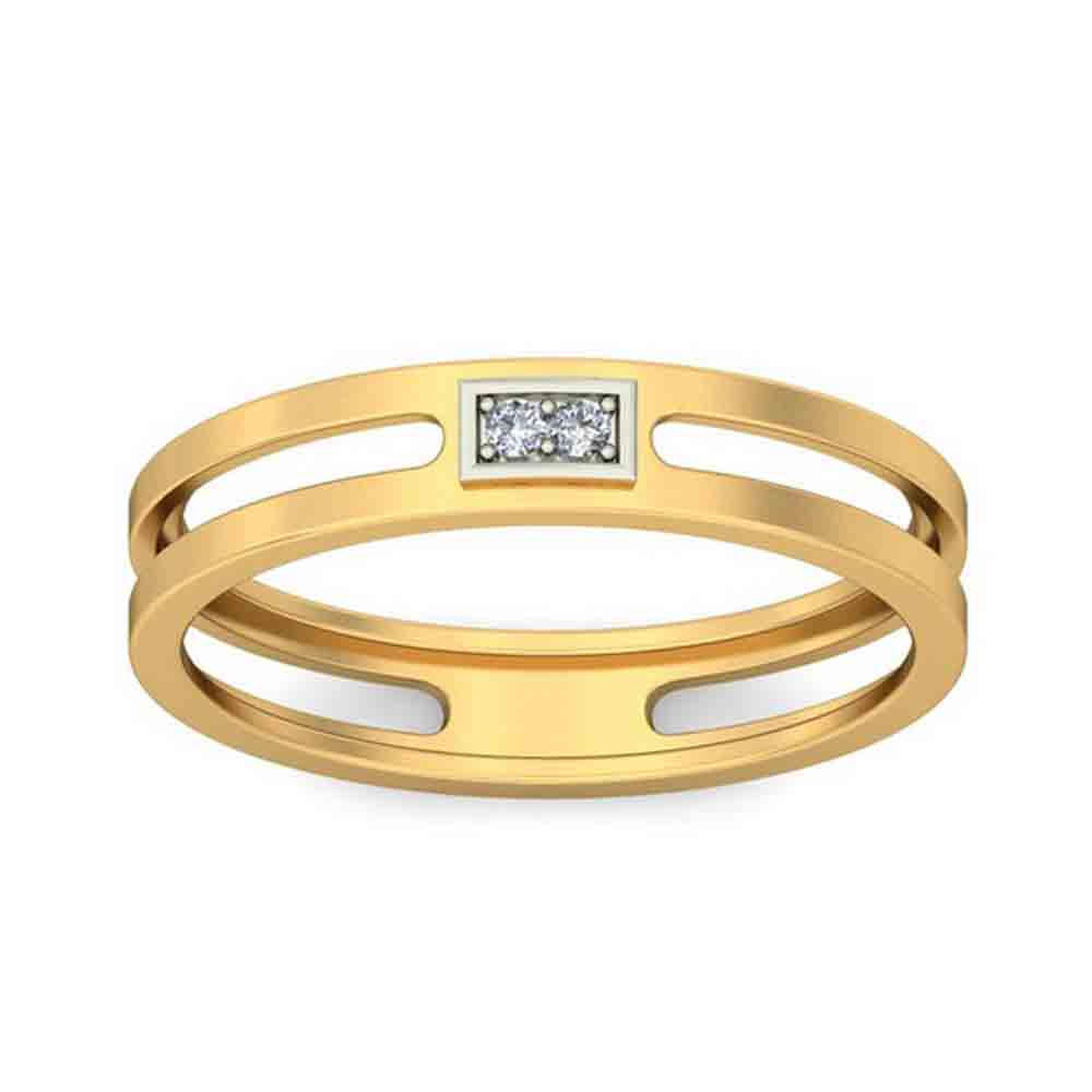 18 KT GOLD ATTRACTIVE DIAMOND FINGER RING