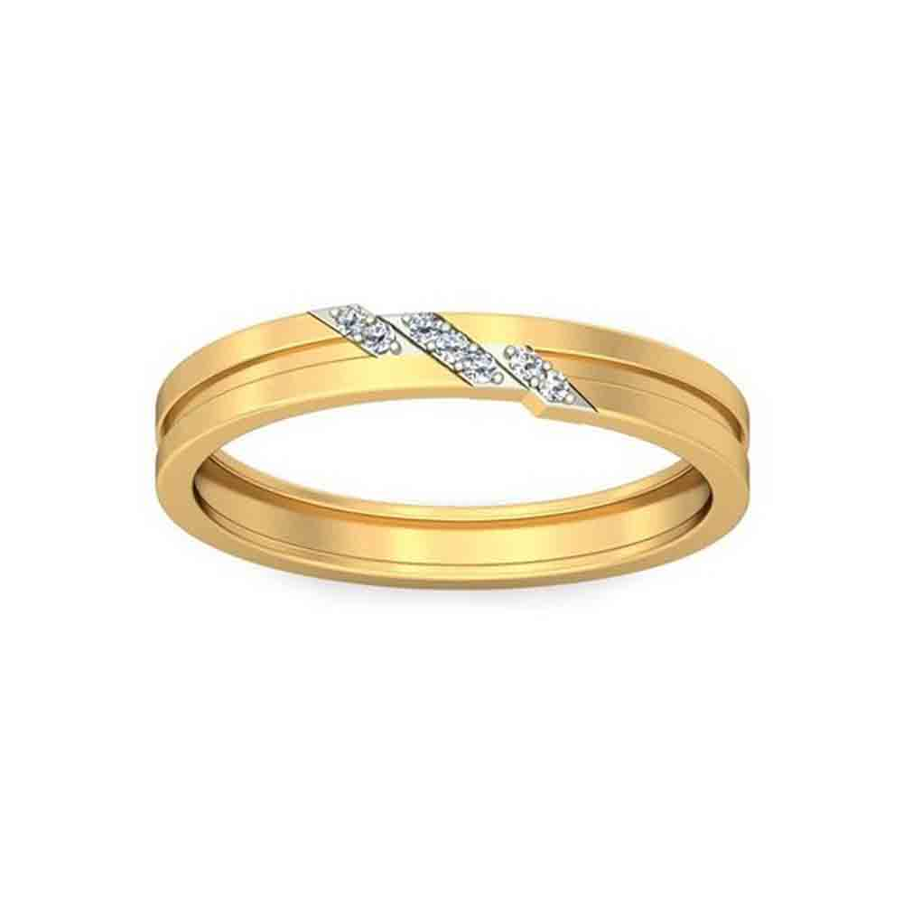 18 KT GOLD BLOOMING DIAMOND FINGER RING