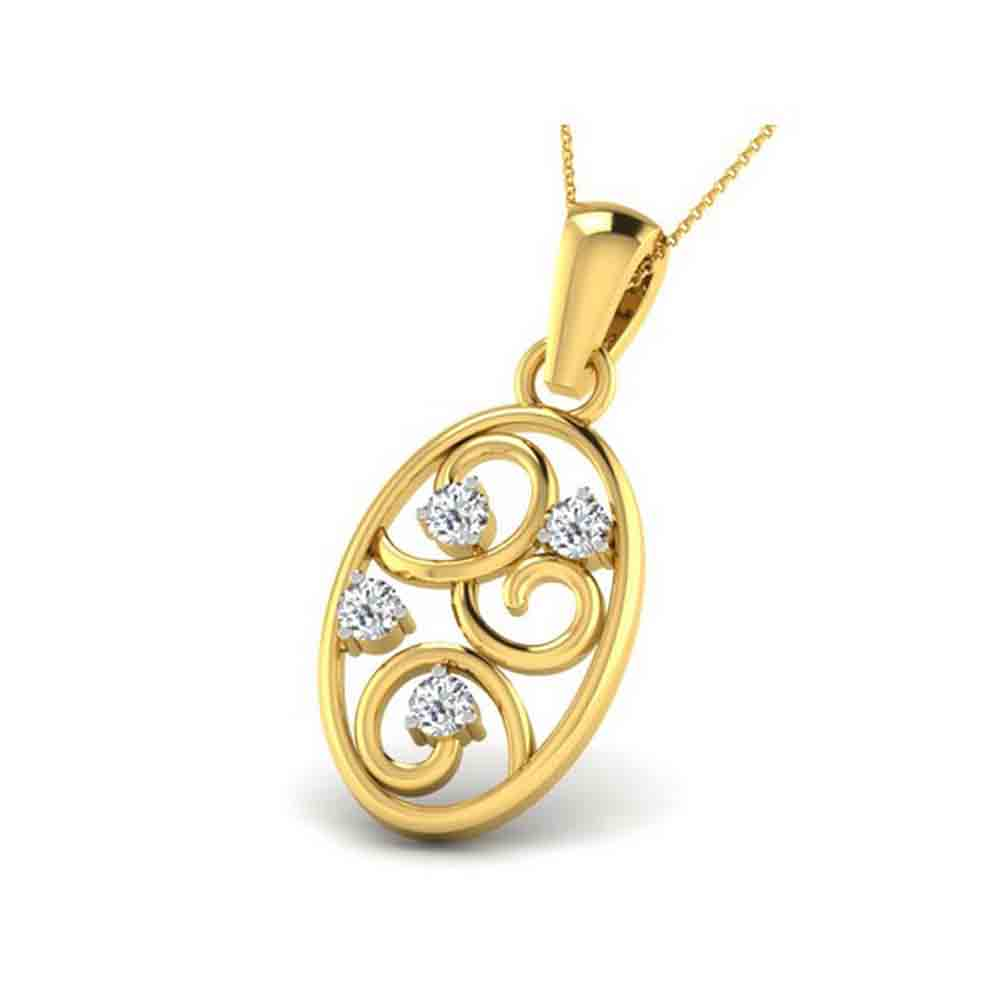 Precious-BLOOMING DIAMOND PENDANT
