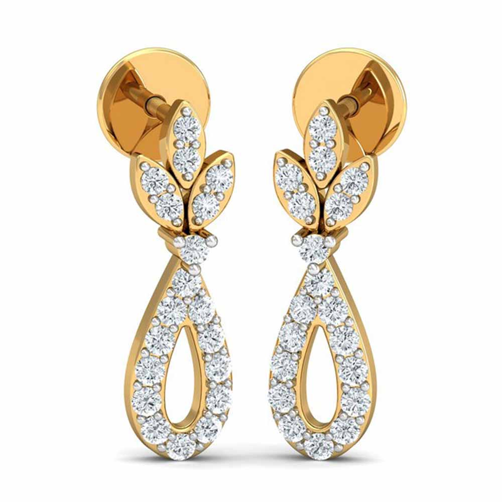 Precious-Enclose Diamond Earrings
