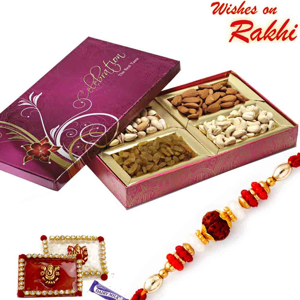 Big Dry fruit Box and Rakhi Hamper