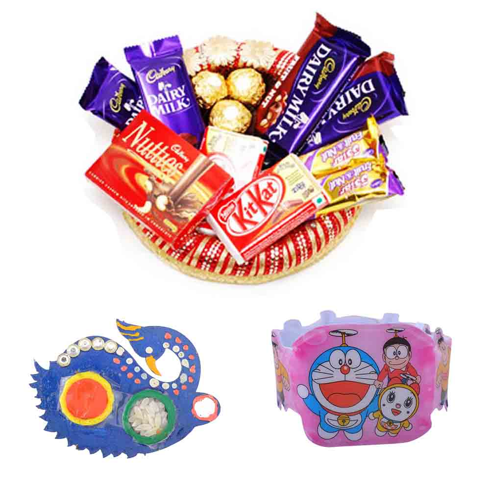 Collection of Chocolates with Kids Rakhi
