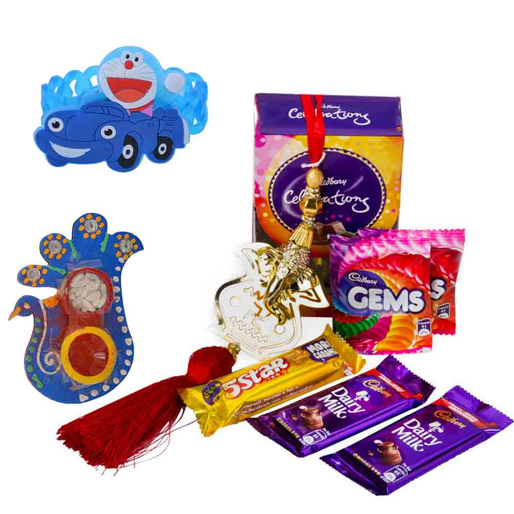 Rakhi Hampers-Ganesha Blessed Rakhi Celebrations with Kids Rakhi