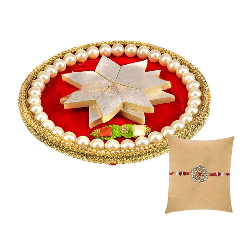 Royal Thaali with Kundan Rakhi