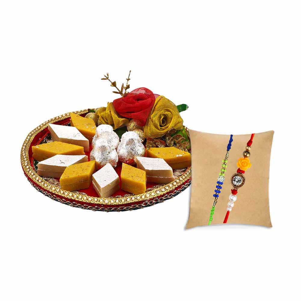 Pyaraa Bandhan with set of 2 Rakhis
