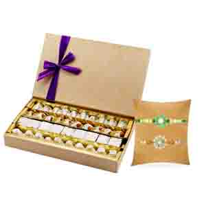 Tajonline Special Hamper-Assorted Premium with 2 Designer Rakhis