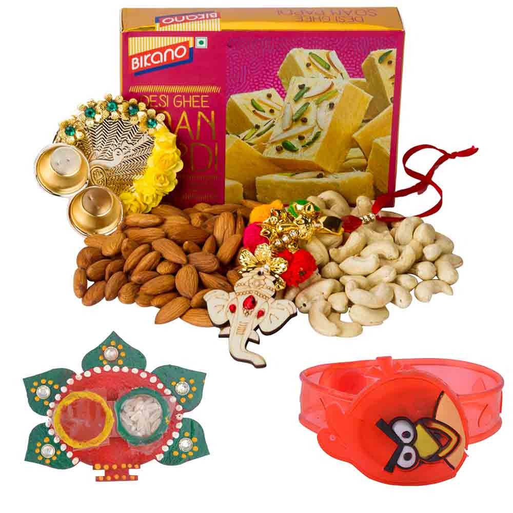 Bikanervala Nutty Soan Papdi with Kids Rakhi