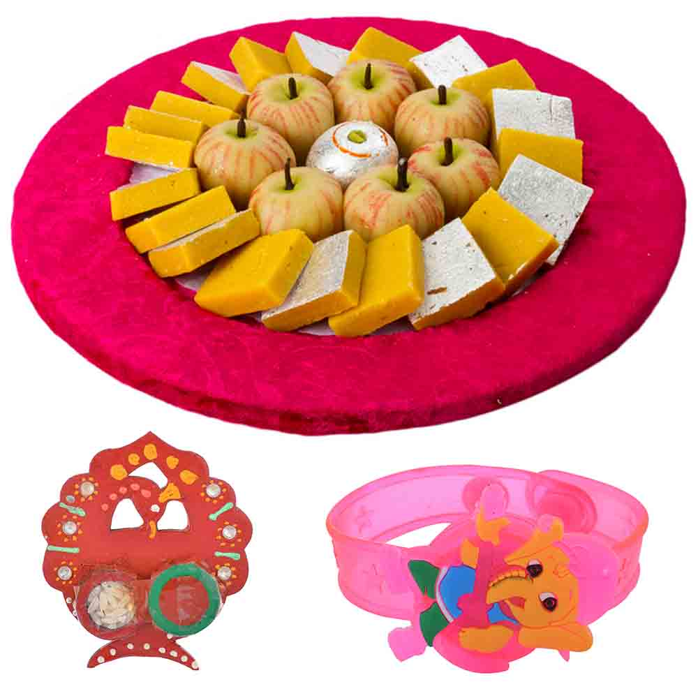 Bikanervala Exotic Kaju Sweets Rakhi Hamper with Kids Rakhi