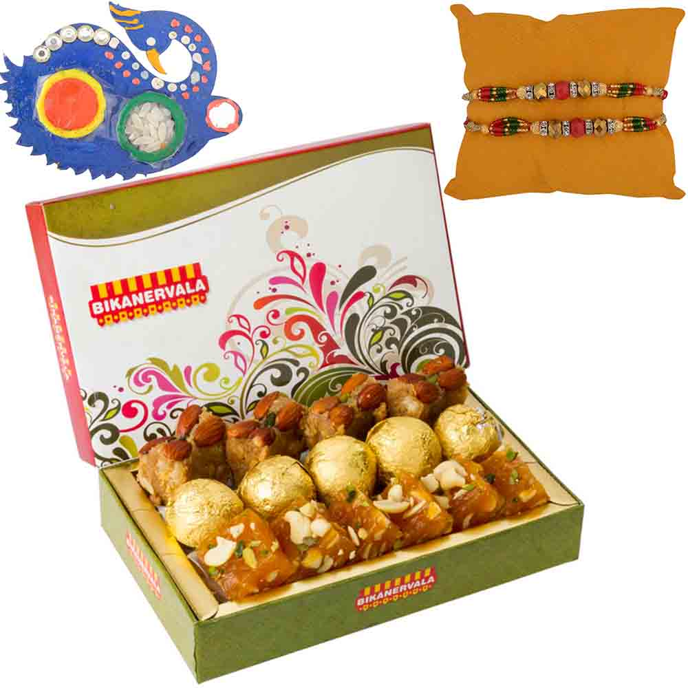 Bikanervala Auspicious with Set of 2 Rakhis