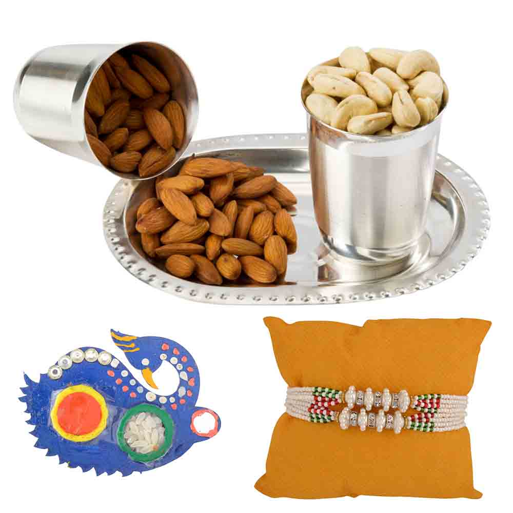 Nutty Silver Glasses Raksha Bandhan Hamper with Set of 2 Rakhis