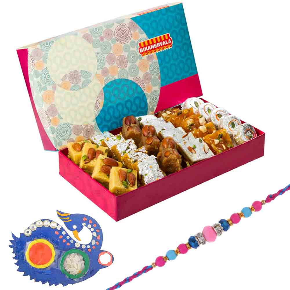 Bikanervala Delicious Sweets with Designer Rakhi