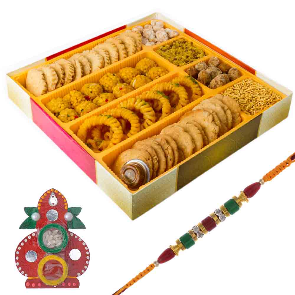 Bikanervala Traditions of India Raksha Bandhan Hamper with Designer Rakhi