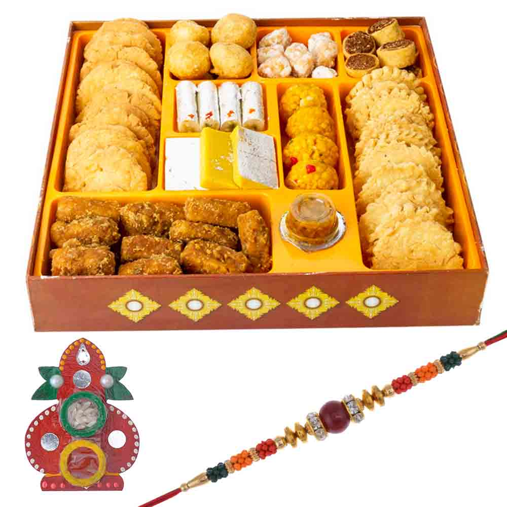 Bikanervala Taste of India Raksha Bandhan Hamper with Designer Rakhi