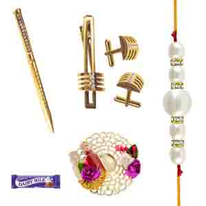 Gifts for Brother-Awesome Golden Bhaiya Hamper