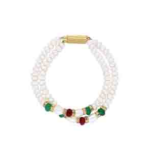 Precious-Colourful Pearl Bracelet