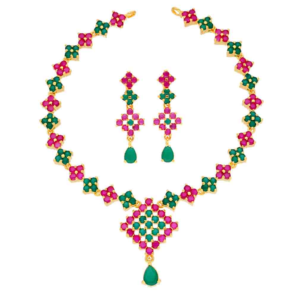Ujwala Ruby Emerald Necklace