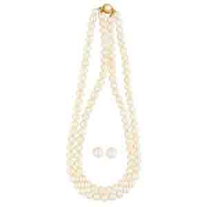 Precious-2 Lines Pearl Necklace