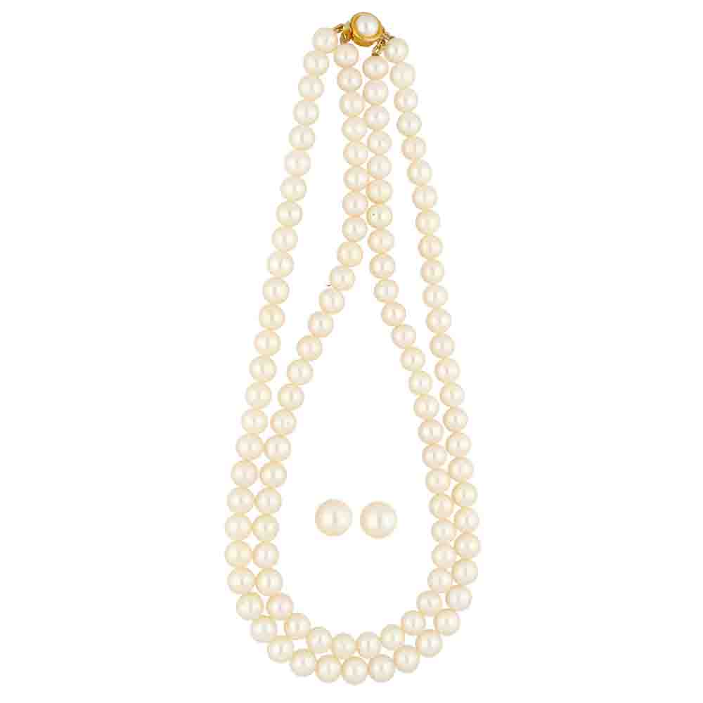 2 Lines Pearl Necklace