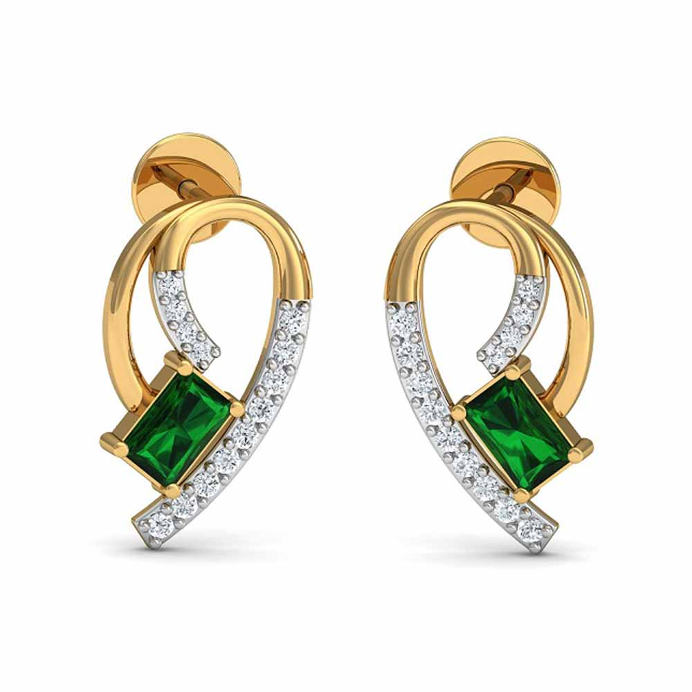 Diamond-Nital Diamond Earrings