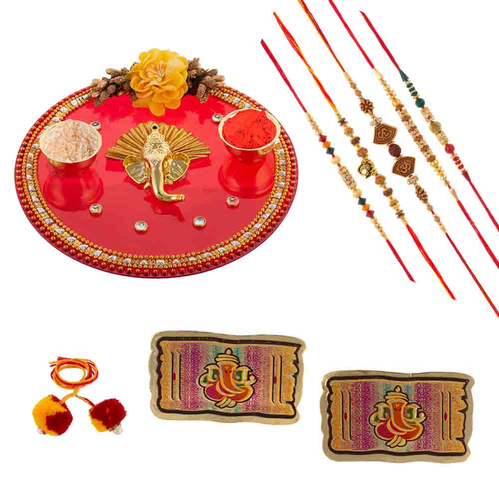 Traditional Rakhi Gift with Rakhis