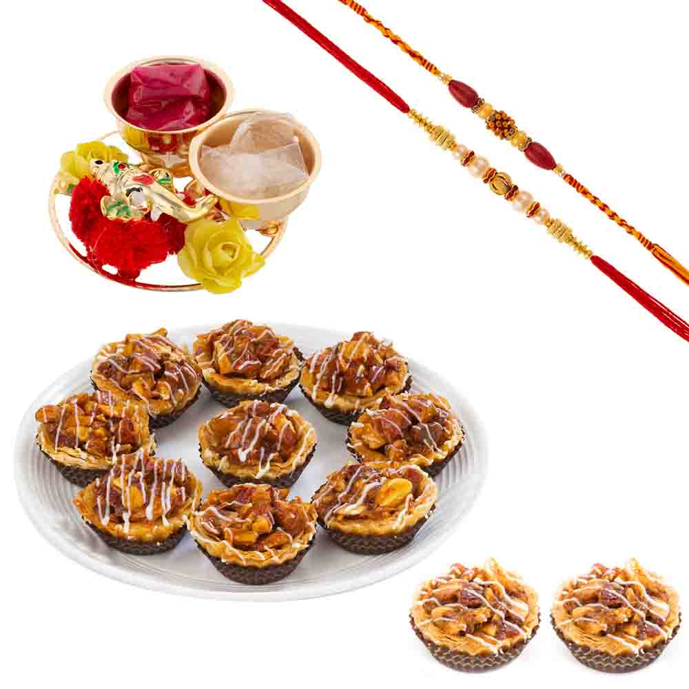 Bikanervala Mixed Dry Fruit Baklava with Designer Rakhis