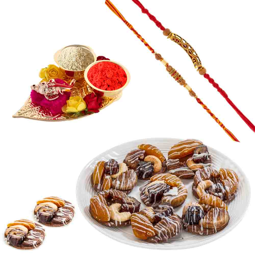 Bikanervala Orange Figs Cashew with Designer Rakhis